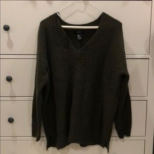 Forever 21 Dark Olive Sweater